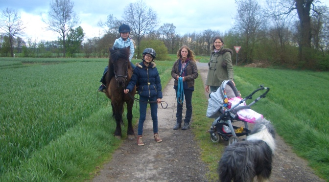 Lilli begegnet den Ponies